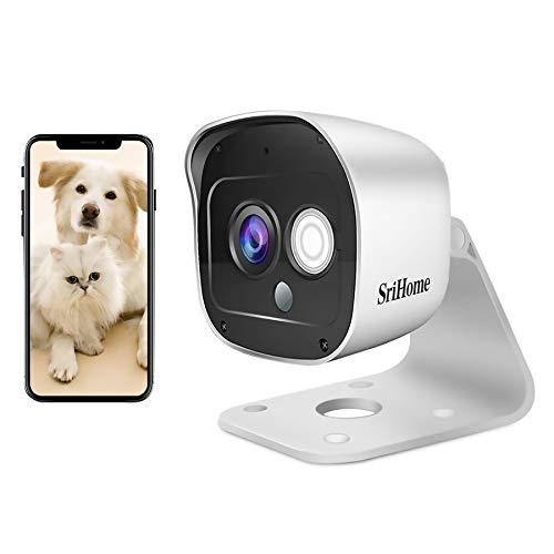 Caméra Surveillance WiFi Extérieure, SriHome SH029 Caméra IP WiFi 3MP, Caméra Sécurité Etanche...