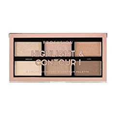 Contouring and strobing made easy with this travel friendly, 6-colour highlight and contour palette Buildable and blendable contour shades are perfect to chisel and define your natural features The richly pigmented highlighters enhance a perfect lit-...