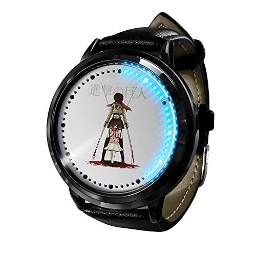 Attack on Titan Reloj Inteligente con LED Pantalla táctil Reloj de Pulsera para Niños y Niñas El Reloj de Niños Reloj con Dibujos Animados Bonitos de 277D a Prueba de Agua Regalo para Niños y Niñas