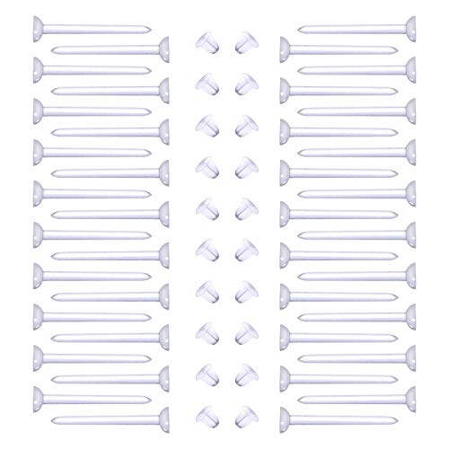 Briana Williams 100 stuks 20G Doorzichtige Oorbellen Studs Retainers Acryl Rubberen Steunpalen 10 mm Oorlel Tragus Cartilage Piercing