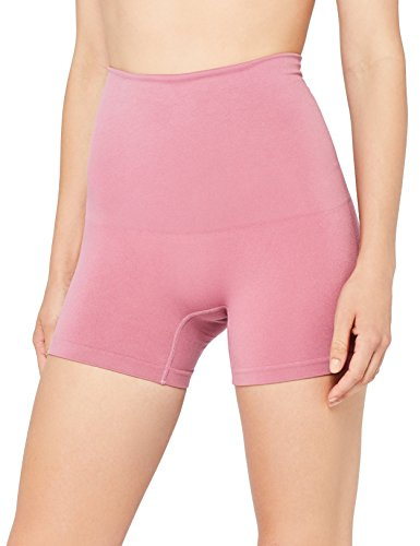 Iris & Lilly Panty a Vita Alta Seamfree Donna, Rosa (Old Rose), X-Large