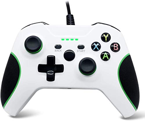 Gamecontroller für Xbox One Wired Gamepad Joystick Dual Vibration Feedback mit 3.5 Audio Jack-WASUNNY (Schwarz)