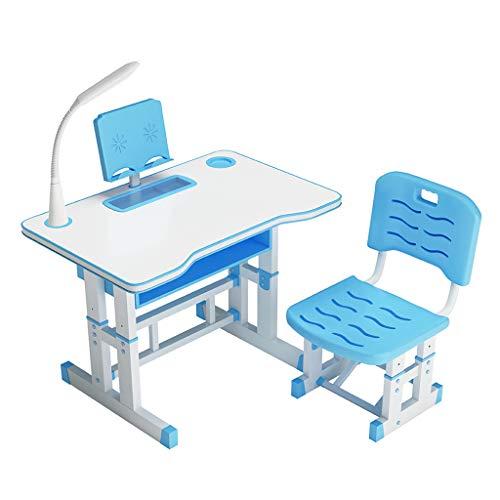 Q/S Kids Desk Adjustable Kids Desk School Desk Study Desk for Kids Desk and Chair Set (Table:80x40cm)