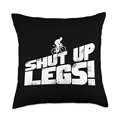 Fitness Apparel Company Legs Shut Up Bicycle Cycling Workout Cardio Gift Throw Pillow, 18x18, Multicolor -  6RKQ611NQQAUS_18X18