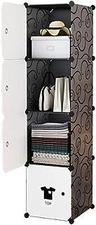LYLY Penderie portable pour vêtements pliés, dortoir, chambre à coucher, meuble de rangement en plastique, armoire de rang...