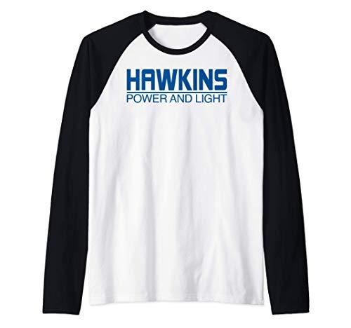 Netflix Stranger Things Hawkins Power And Light Logo Camiset