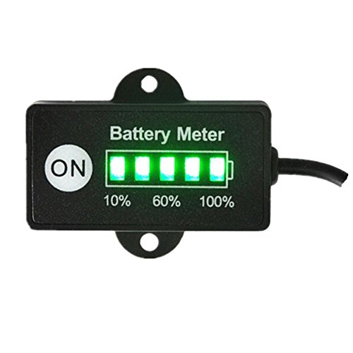 Best Gold Supplier 24V 36V 48V Car Battery Meter Capacity Tester Gauge Battery Charge Indicator with 5 Segments LED for All Lead-Acid VRLA, AGM, Gel Battery (for 48V Lead Acid Battery)