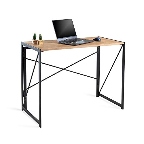 LYCKLIG Folding Computer Gaming Desk for ps5, ps4, xbox, No-Assembly Simple Study Desk, Writing Table Home Office Desk for Adult & Kids 100 x 50 x 75 cm