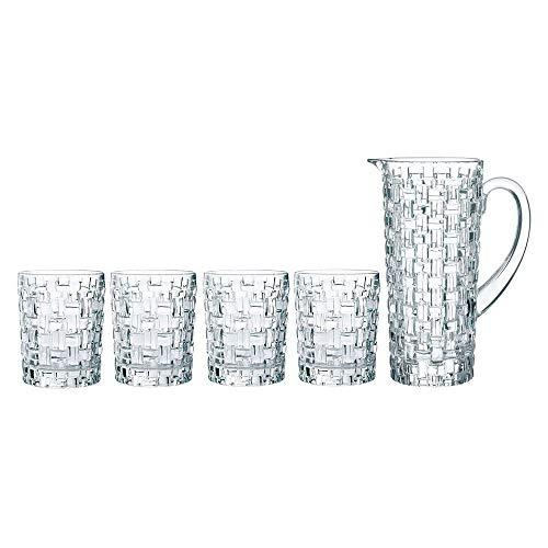 Spiegelau & Nachtmann, 5-teiliges Krug-Set, 1 Krug (1190 ml) + 5 Whiskybecher (330 ml), Kristallglas, Bossa Nova, 0098759-0