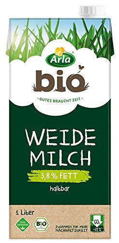 Arla BIO Haltbare Weidemilch 3.8% Fett, Bio H-Milch aus artgerechter Tierhaltung, 12x1 l
