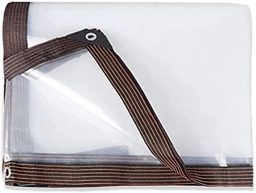 Schatten Netto Klare transparente Plane, Kunststoff im Freien Hochleistungsrutsche Wasserdicht, mit Ösen verstärkte Rip-Stop-verstärkte Kanten Leichtes...