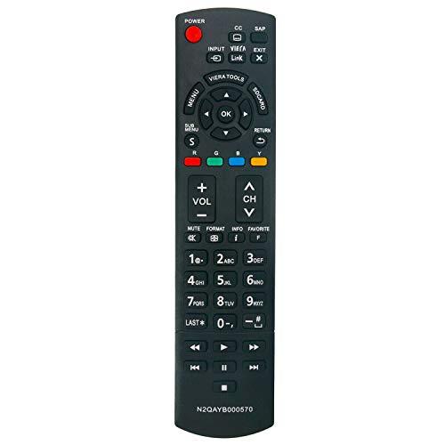 N2QAYB000570 Remote fit for Panasonic TV TC-L32E3 TC-L37E3 TC-L42E3 TC-P42X3 TC-P46X3 TC-P50X3 TC-42PX34 TC-50PX34 TC-60PS34 TC-L42E30 TC-L32X30 TC-P4232C TC-P4632C TC-P5032C TC-P42S30 TC-P46S30