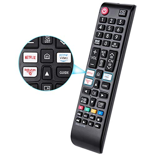 Telecomando intelligente BN59-01315B per TV Samsung 4K UHD HDR Crystal QLED, sostituzione TV Quantum Samsung serie UE con Netflix/Rakuten/Prime Video