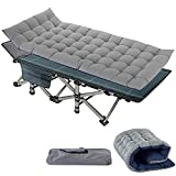 Slsy Folding Camping cot,Folding cot Camping Cot for Adults Portable Folding Outdoor cot with Carry Bags Suede for Outdoor Travel Camp Beach Vacation (Electric Ultramarine)