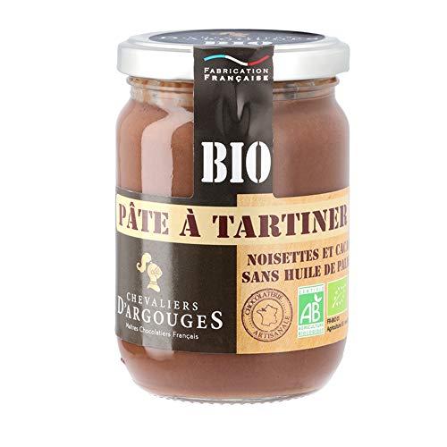 Chevaliers d'Argouges Pâte à tartiner noisettes Bio/Fairtrade sans huile de Palme - 280g