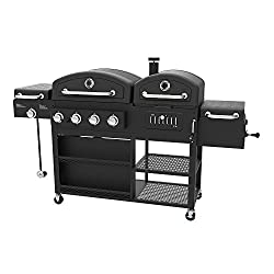 Smoke Hollow 4-in-1 LP Gas Charcoal Smoker