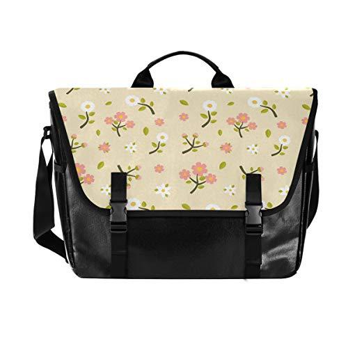 Spring Pet Schultertasche für Damen und Herren, mit Blumenmuster, für iPad, Kindle, Samsung