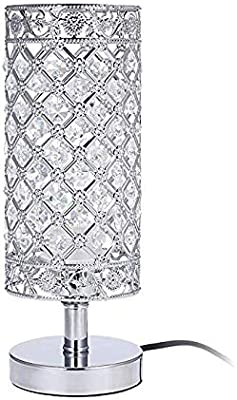 Kristall Tischleuchte,Tischlampe Tomshine Nachttischlampe
