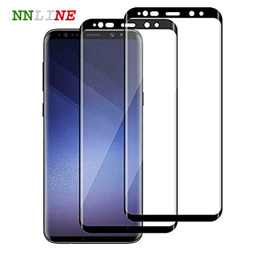 NNLine Pellicola Vetro Temperato Samsung S9, Pellicola Trasparente [ 2-Pezzi], Pellicola Protettiva per Schermo 3D Curvo, 2a Generazione, 9H+ Durezza, [Anti-graffio, Anti-Impronta, HD Trasparenza].