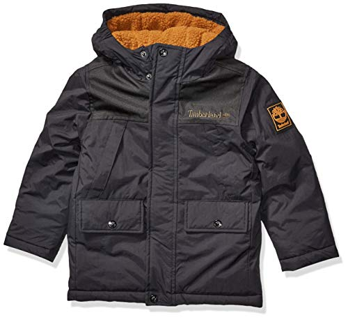 Timberland Jungen Full Zip Heavyweight Snorkle Jacket Daunenalternative, Mantel, schwarz, 14/16 US