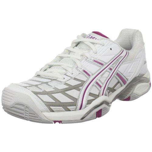 Big Sale ASICS Women's GEL-Challenger Tennis Shoe,White/Silver/Boysenberry,7.5 M