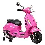 Jamara- Vespa Moto para Niños, Color Rosa (460349)
