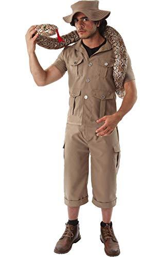 ORION COSTUMES Herren Kaki Safari Dschungel Forscher Anzug Tierpfleger Maskenkostüm