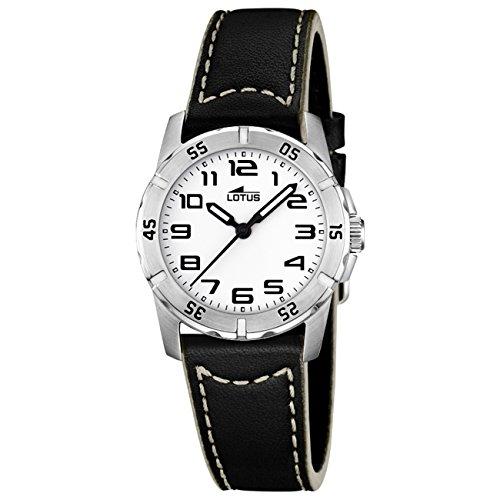 Lotus Jungen Analog Quarz Uhr mit Leder Armband 15945/A