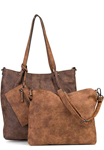 Emily & Noah Shopper Bag in Bag Surprise Damen Handtaschen Uni brown/cognac 207 One Size
