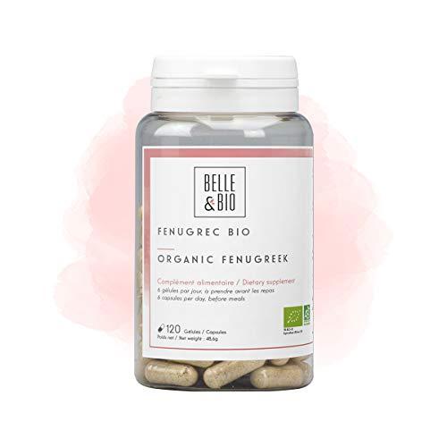 Belle&Bio - Fenugrec Bio - 120 gélules - 300 mg/gélule - Digestion - Certifié Bio par Ecocert - Fabriqué en France