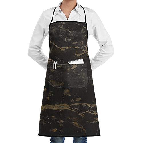 Pag Crane Kitchen Chef Delantal con Peto Mármol Textura Cuello Cintura Corbata Bolsillo Central Impermeable APN-086