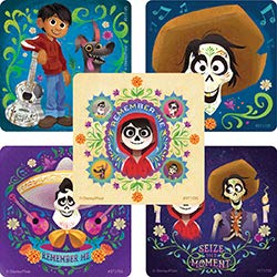 Disney Pixar Coco Movie Stickers - Prizes 100 per Pack