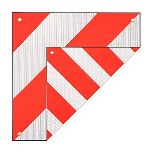 MAXCRAFT Warntafel für Italien und Spanien 50x50 cm Aluminium Warnschild Reflektierend Rot/Weiß