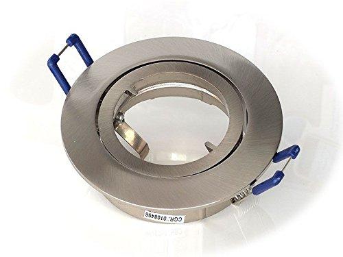 4 Stück - Luxna Lighting Strahler/Scheinwerfer Einbaustrahler, Schwenkbar o. Sprengring Eisen gebürstet