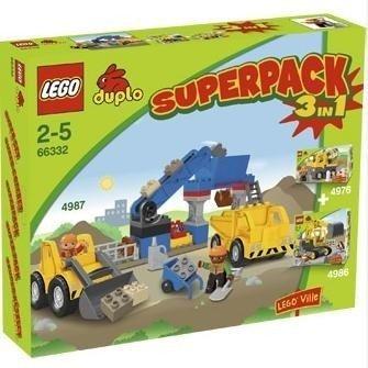 LEGO Duplo 66332–Paket 3in 1(Spiele Spezial Bau-4987, 4986und 4976)