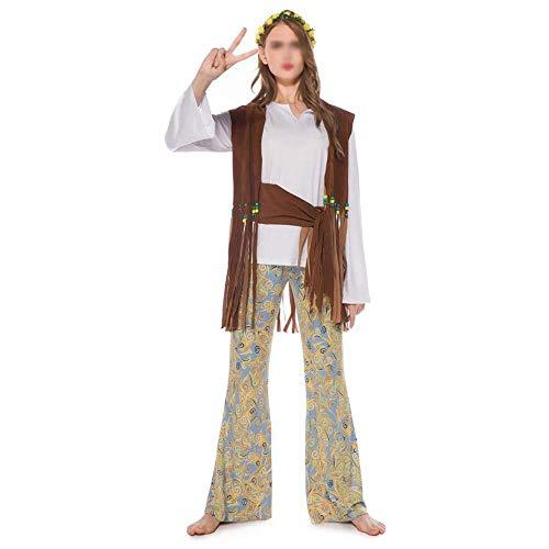 Qfeng Dames Halloween Kostuums Koppels Indische Stam Prinses Kostuums Stage Cosplay Kostuums Halloween Carnaval Night (Kleur : Vrouwelijk, Maat : XL)