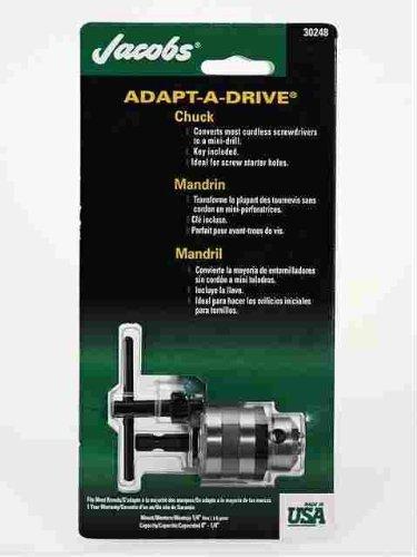 "Jacobs Chuck 30248D Adapt-A-Drive Chuck, 0.25"" Maximum Capacity, 1-1/8"" Sleeve Diameter"