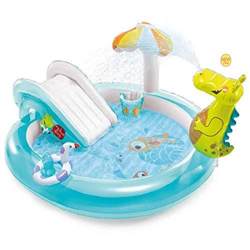 Piscina Inflable Infantil Pulverizar los niños inflable Entretenimiento piscina cocodrilo Tobogán de agua Piscina al aire libre for el hogar Jardines Ideal para la diversión al aire libre del jardín