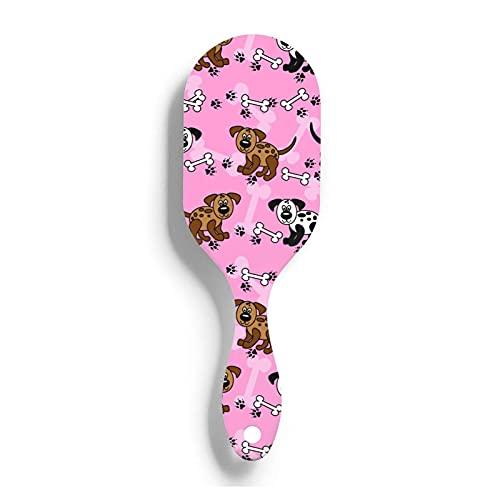 Cojín de aire peine de dibujos animados lindo perro pata huesos mujeres niñas cepillo de pelo alfileres de nailon suave antiestático y frizz cuidado del cabello masaje