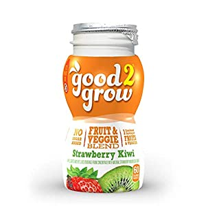 good2grow Strawberry Kiwi Juice Refill, 24-pack of 6-Ounce BPA-Free Juice Bottles, Non-GMO with Full Serving of Fruits… |
