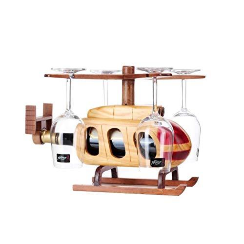 Estantería de vino Estante del vino vino estante de madera sólida reversible cáliz de almacenamiento estante de exhibición estante mostrador marco decorativo Inicio Bar Restaurante de escritorio estan