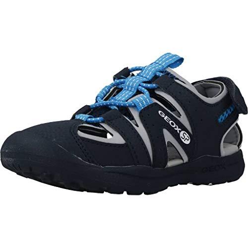 Geox VANIETT Boy J925XA Jungen Trekking Sandalen,Kinder Outdoor-Sandale,Sport-Sandale,geschlossener Zehenbereich,Navy/Turquoise,33