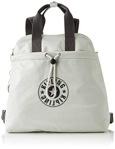 Kipling GOYO M, Backpacks para Mujer, Dynamic Silver, 14x34x32.5 cm (LxWxH)