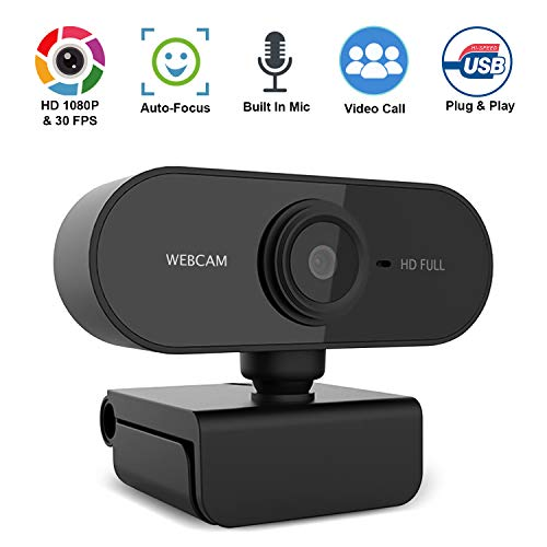 [Fulfilled by Amazon] Webcam with Microphone, 1080P HD Webcam Streaming Computer Web Camera -USB Computer Camera for PC Laptop Desktop Video Calling,Conferencing