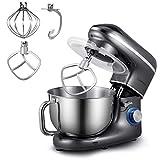 Robot Pâtissier, Cookmii 1500W Robot Pétrin Silencieux Robot de Cuisine...