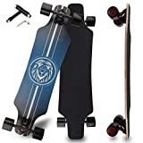 Longboard Skateboard for Beginners, 31 Inch Pro Complete Concave Cruiser Skate Boards with 8 Layer Maple Deck and ABEC-9 Bearing, T-Tool Included