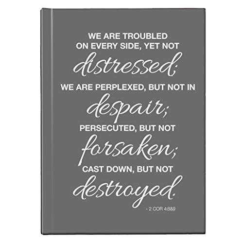 We zijn vervloekt op elke kant nieuwe Testament Quote Hardback Journal