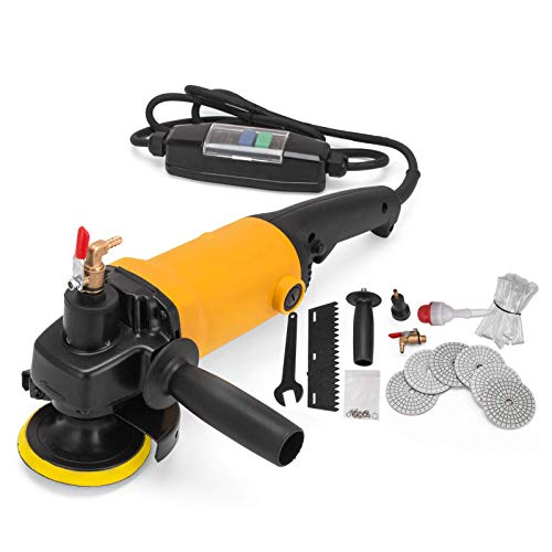 ZHFF Wet Polisher 220-240V Electric Wet Stone Polisher Variable Speed 1100W Hand Grinder Water Mill Concrete Grinding Machine for Marble, Cement Tile, Granite, Terrazzo Tool