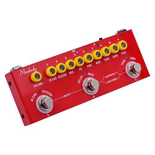 Fesjoy Cube Baby Guitarra eléctrica portátil Multifuncional Pedal de Efectos Combinados Batería...