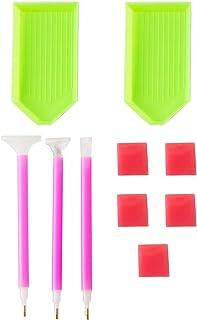 Honsto 10Pcs/Set Handmade Diamond Painting Tools Set DIY Diamond Embroidery Pen Tray Tools Accessories